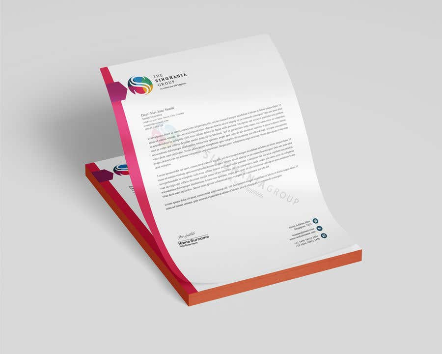 Konkurrenceindlæg #                                        8                                      for                                         A premium letterhead to be designed.