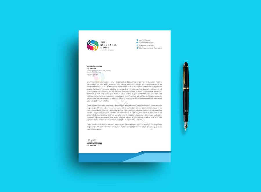 Contest Entry #                                        9                                      for                                         A premium letterhead to be designed.
