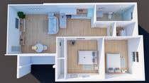 """3D Rendering Intrarea #20 pentru concursul """"2 Bed 1 Bath Interior Design Project"""""""