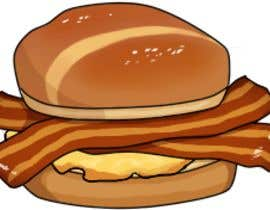 #22 for Design a Bacon and Egg roll emoticon af Aominoe