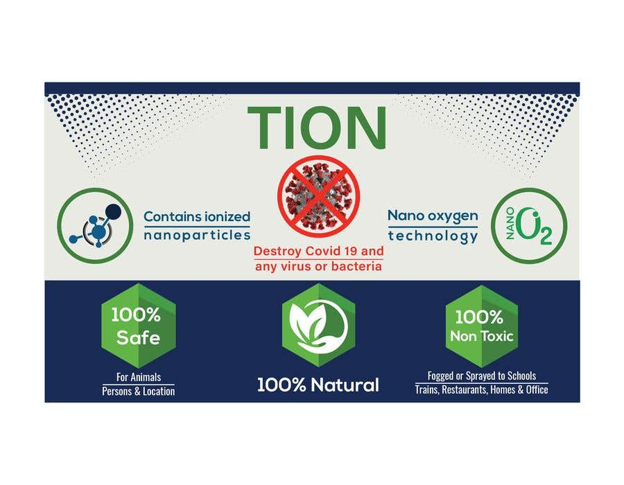 Proposition n°                                        9                                      du concours                                         Label  design with illustration for a disinfectant with nanoparticles
