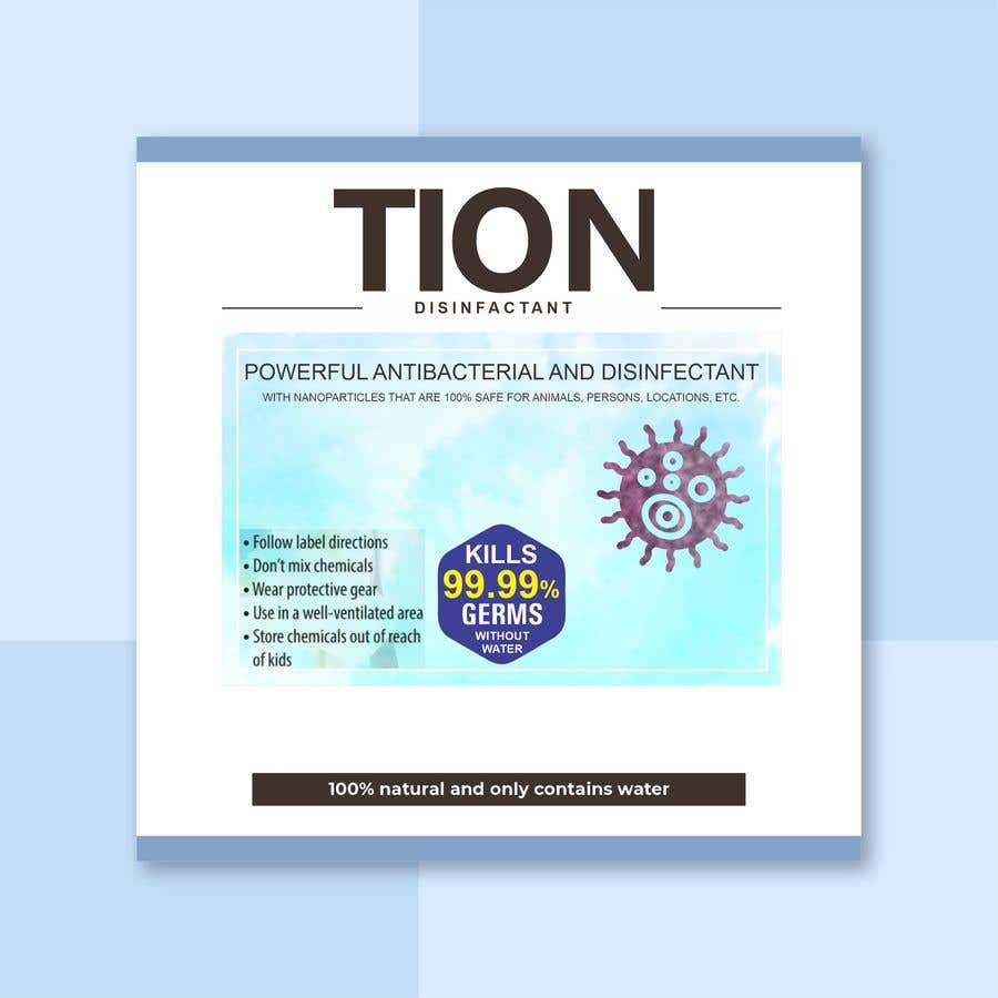 Proposition n°                                        1                                      du concours                                         Label  design with illustration for a disinfectant with nanoparticles