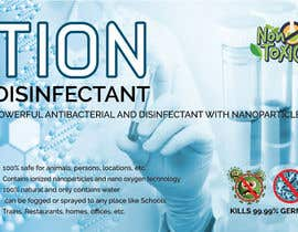 #22 para Label  design with illustration for a disinfectant with nanoparticles por clickgraphicsbd