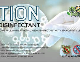 #24 para Label  design with illustration for a disinfectant with nanoparticles por clickgraphicsbd