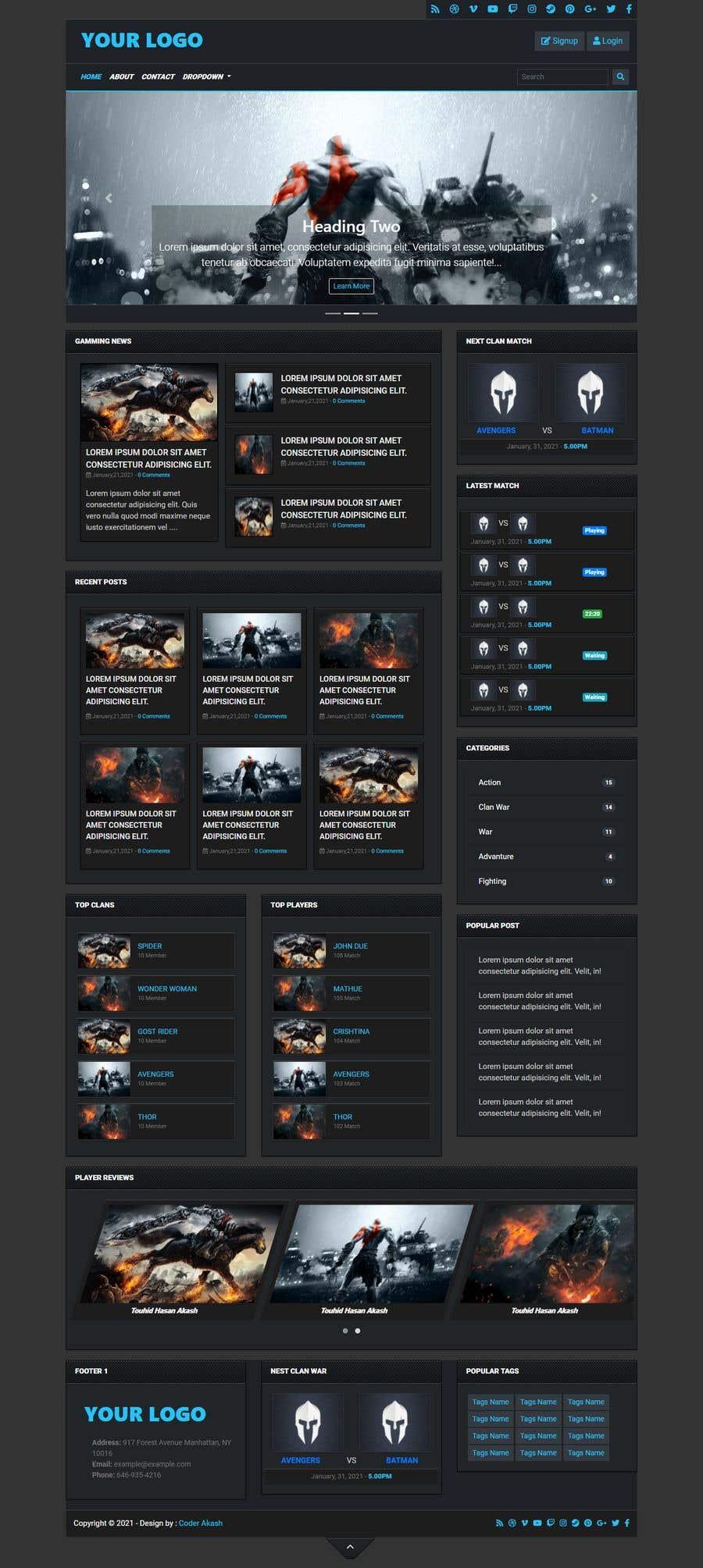 Kilpailutyö #                                        80                                      kilpailussa                                         Redesign landing page