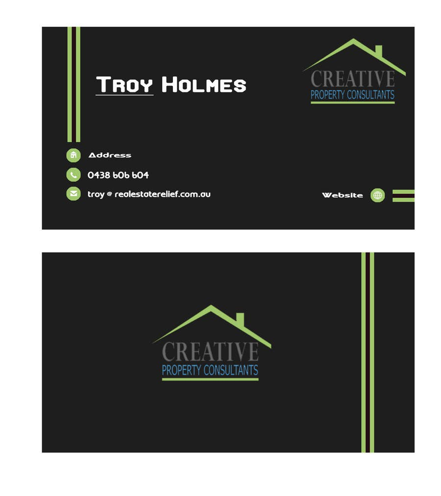 Konkurrenceindlæg #                                        24                                      for                                         Design some Business Cards for Creative Property Consultants