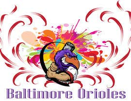 #4 for Baltimore Orioles Custom T-shirt design by batoty