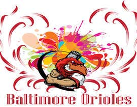 #8 for Baltimore Orioles Custom T-shirt design by batoty