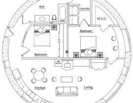ahmedrafayatul tarafından Architect's Design for a 2-bedroom Round, Grass Thatched House için no 2