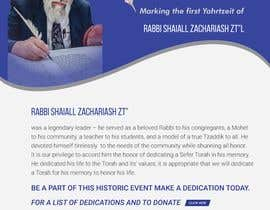 nº 159 pour Design a Flyer for an Event (Sefer Torah) par liponrahman