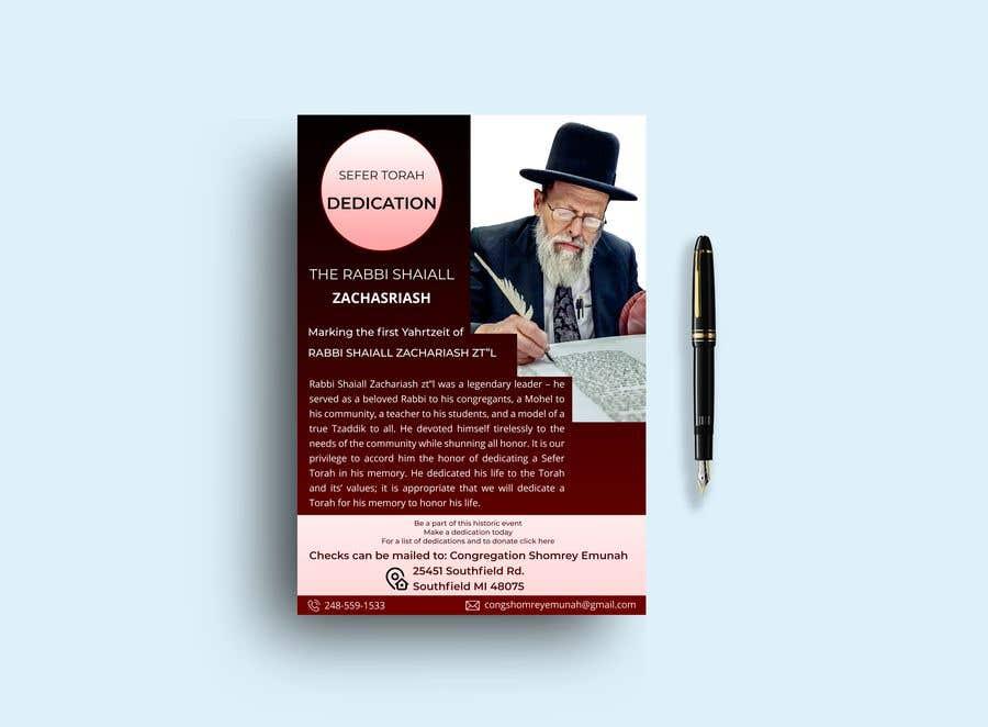 Proposition n°                                        117                                      du concours                                         Design a Flyer for an Event (Sefer Torah)