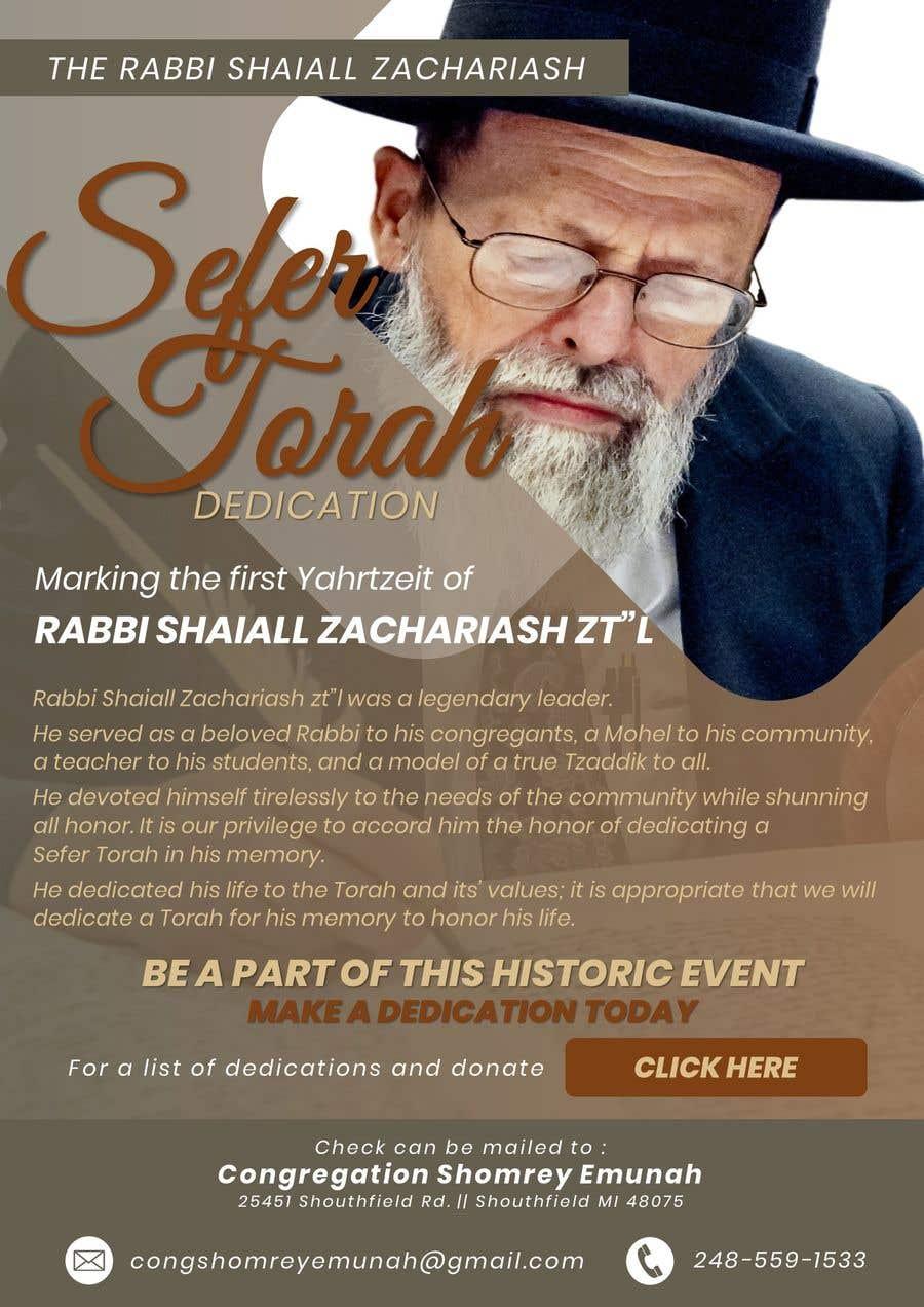 Proposition n°                                        14                                      du concours                                         Design a Flyer for an Event (Sefer Torah)