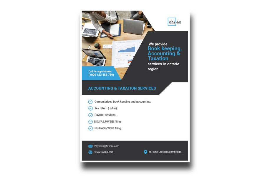 Kilpailutyö #                                        25                                      kilpailussa                                         Brochure Design for Business Firm.