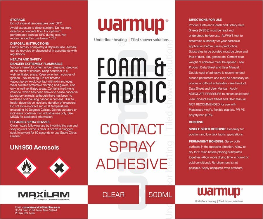 Contest Entry #                                        5                                      for                                         Design an attention grabbing label for aerosol