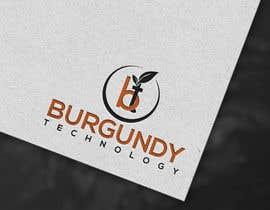 #135 pentru Burgundy Technology Logo Creation de către mdazizulhoq7753