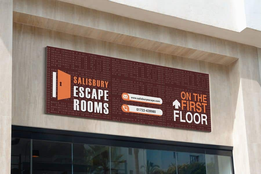 Kilpailutyö #                                        43                                      kilpailussa                                         escape room signage