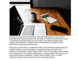 """Nro 45 kilpailuun Article on """"Social isolation due to remote working"""" käyttäjältä nayakvimal"""