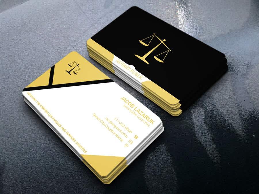Kilpailutyö #                                        126                                      kilpailussa                                         Business Card - Notary Public