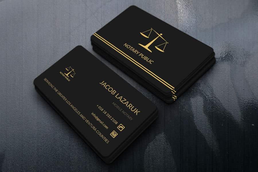 Kilpailutyö #                                        72                                      kilpailussa                                         Business Card - Notary Public