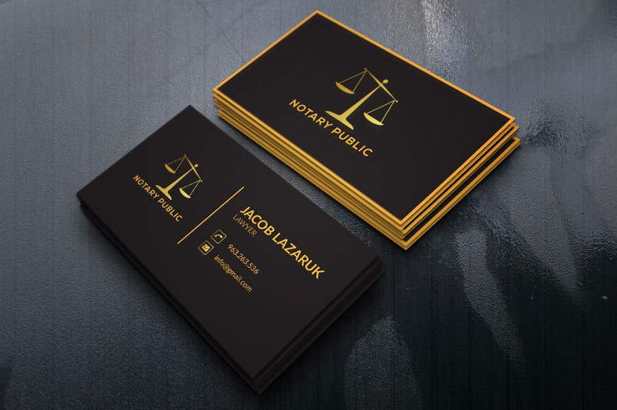 Kilpailutyö #                                        118                                      kilpailussa                                         Business Card - Notary Public