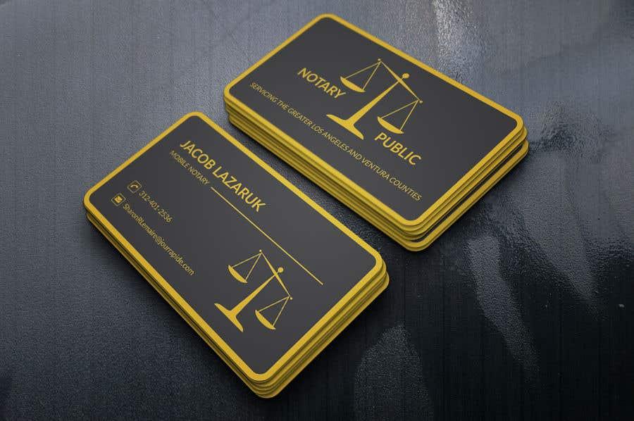 Kilpailutyö #                                        64                                      kilpailussa                                         Business Card - Notary Public