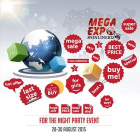 #27 cho Design a Logo for a event name `#ONLINEBIZ MEGA EXPO 2015 bởi malg321