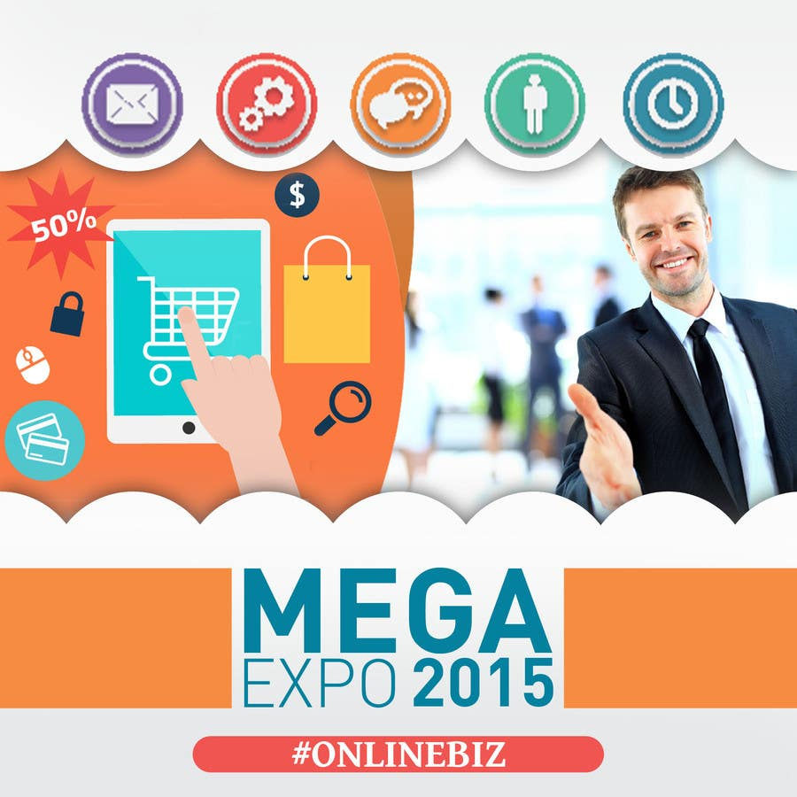 Contest Entry #                                        15                                      for                                         Design a Logo for a event name `#ONLINEBIZ MEGA EXPO 2015