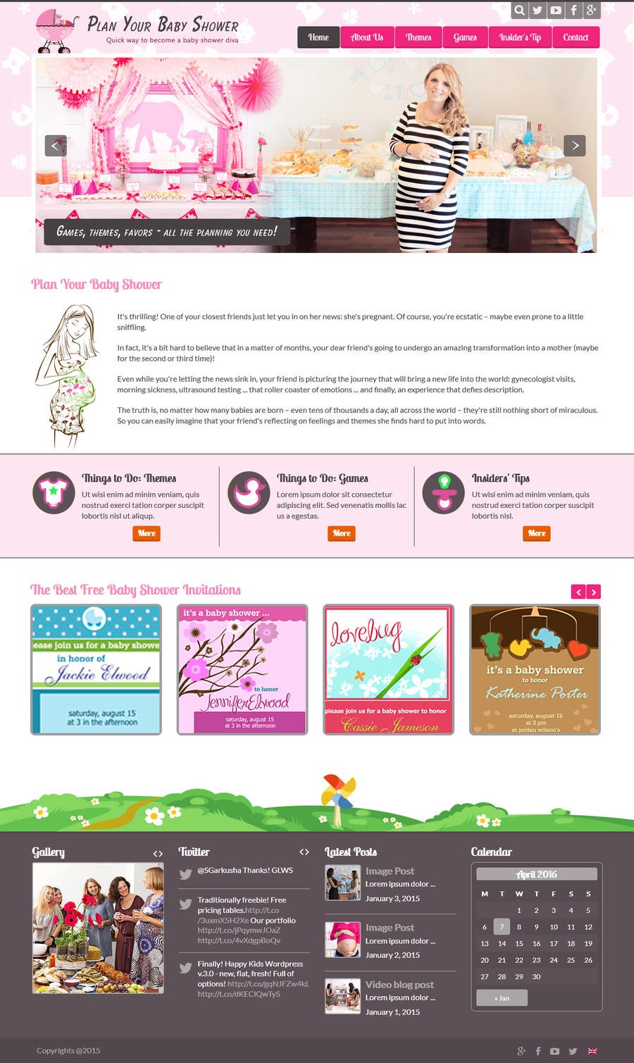 Contest Entry #                                        22                                      for                                         Design a Website Mockup for planyourbabyshower.com