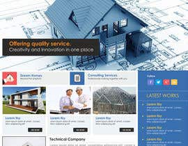 #12 untuk Design a Website Mockup for Civil Engineer - Technical company oleh steffanytj