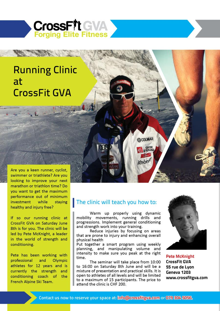 #21 for Advertisement Design for Running Clinic by Olywebart