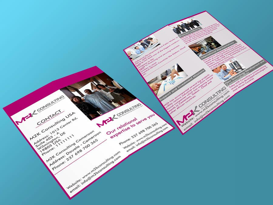 entry 13 by ghani1 for design a single fold brochure for m2k