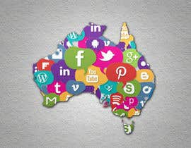 #1 cho Graphic Design : Social media icon illustration in shape of Australia bởi new1ABHIK1