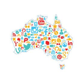 #3 cho Graphic Design : Social media icon illustration in shape of Australia bởi serkanselek