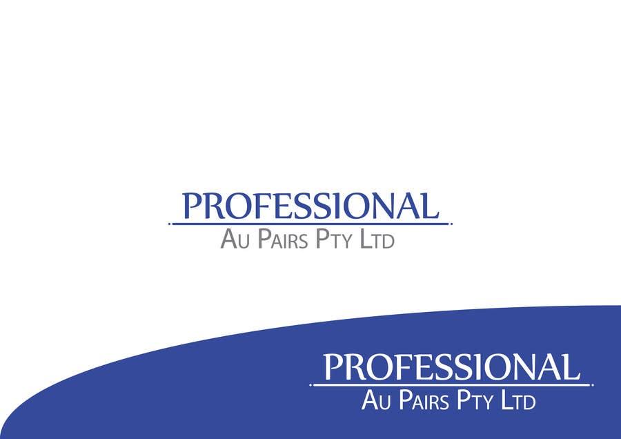 Kilpailutyö #20 kilpailussa Logo Design for Professional Au Pairs Pty Ltd