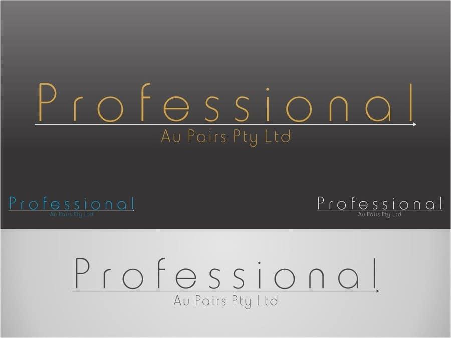 Kilpailutyö #193 kilpailussa Logo Design for Professional Au Pairs Pty Ltd