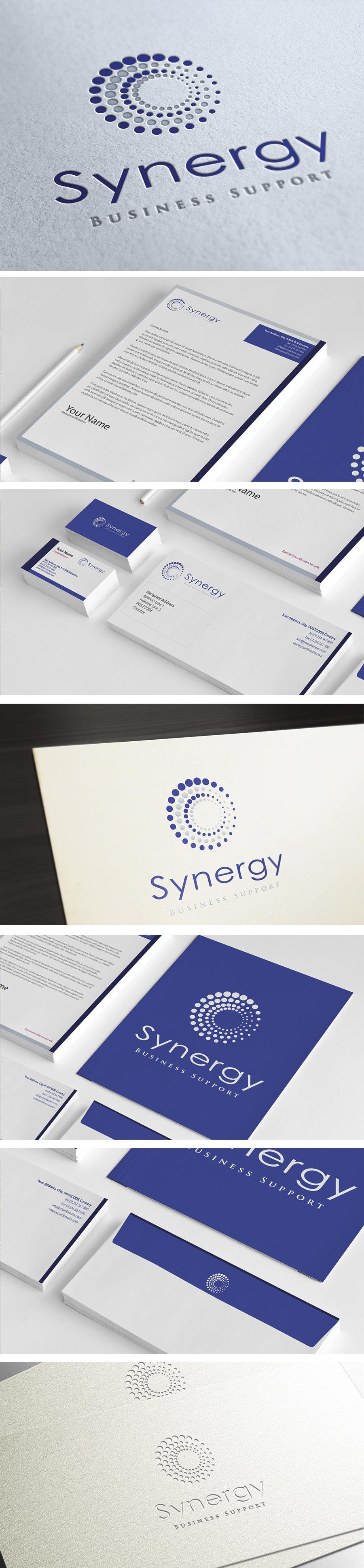 Bài tham dự cuộc thi #                                        156                                      cho                                         Logo and stationery design for Synergy Business Support