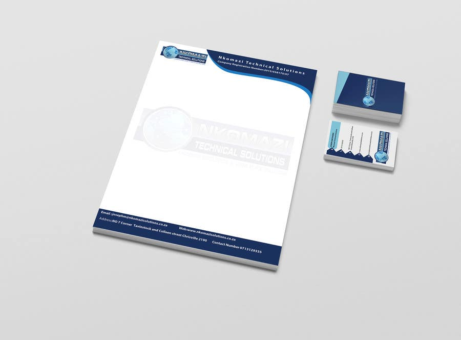 Konkurrenceindlæg #                                        4                                      for                                         Design Letterhead and Business Card for a technical solutions company