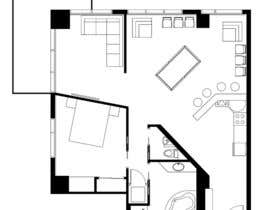 #17 for Floor plan/interior ideas for sub-penthouse condo (1000sq feet) af KuboScerbak