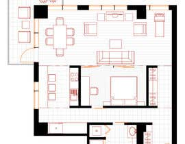 #16 for Floor plan/interior ideas for sub-penthouse condo (1000sq feet) af vityny79