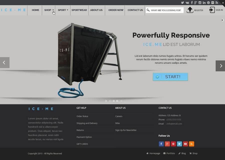 Proposition n°                                        25                                      du concours                                         Design Website based on Nike Homepage - Easy!