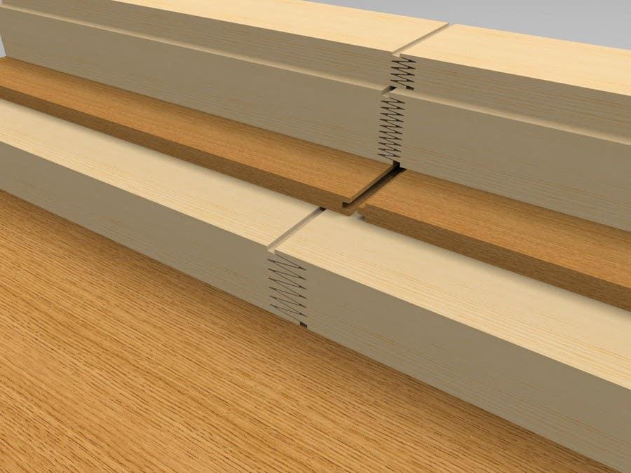 Konkurrenceindlæg #57 for Realistic 3D modelling - Sawed Wood profiles