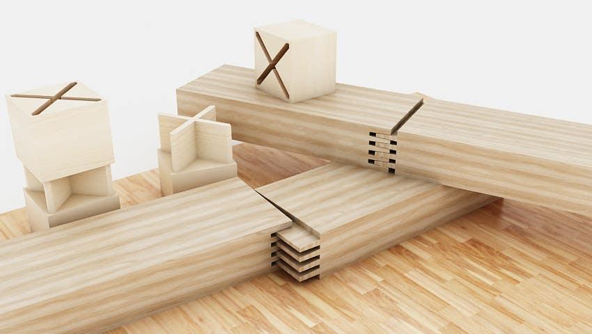 Konkurrenceindlæg #38 for Realistic 3D modelling - Sawed Wood profiles