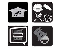 #40 para Icons for food website de azadarayhan
