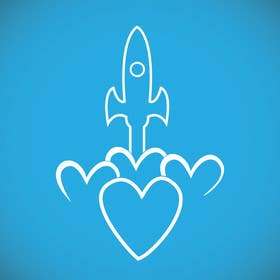 #74 for Simple design - Rocket ship with love heart by onkarpurba