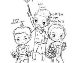 #8 for Design a T-Shirt for Parody Avengers, Badminton, Chibi style by sagedoll