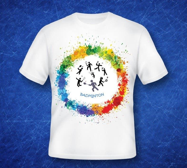 Proposition n°                                        5                                      du concours                                         Design a T-Shirt for Parody Avengers, Badminton, Chibi style