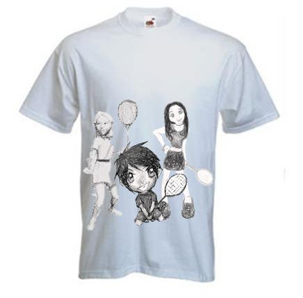 Proposition n°                                        9                                      du concours                                         Design a T-Shirt for Parody Avengers, Badminton, Chibi style