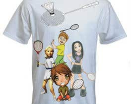 #12 for Design a T-Shirt for Parody Avengers, Badminton, Chibi style by mukundrathi2905