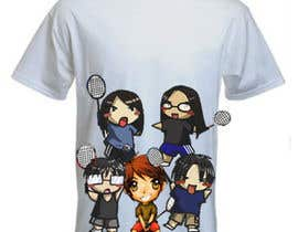 #18 for Design a T-Shirt for Parody Avengers, Badminton, Chibi style by mukundrathi2905