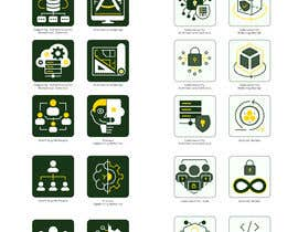 #43 for 2 sets of 4 icons needed. Digital Computing Cybersecurity Domain. af Grabarvl